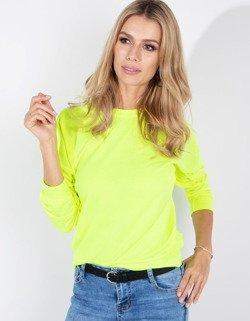 Bluza damska NEON neonowy żółty BY0185 sklep online Dstreet.pl