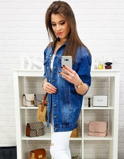 8023269bbb3fc Długa kurtka damska SENCE jeansowa (ty0642) - sklep online Dstreet.pl