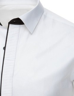 f1ad49e1c360de Koszula smokingowa z plisą biała (dx1741) - sklep online Dstreet.pl