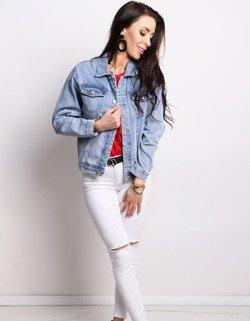 37246f054d6f7 Kurtka damska jeansowa ALBERTA niebieska (ty0614) - sklep online Dstreet.pl