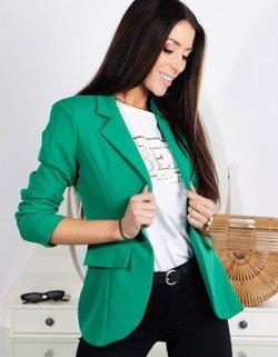 ff21b85fa5a0d Marynarka damska LOVE zielona (py0013) - sklep online Dstreet.pl