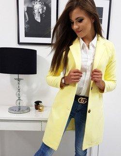507d97662 Płaszcz damski SUN pastelowy żółty (ny0247) - sklep online Dstreet.pl