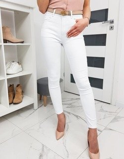 Spodnie damskie Skinny Fit białe UY0279