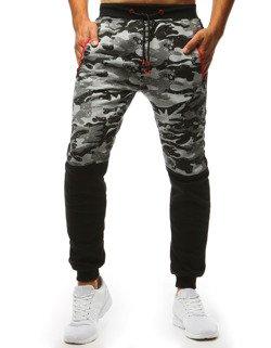 71b84e7d Spodnie dresowe męskie camo szare (ux1404)