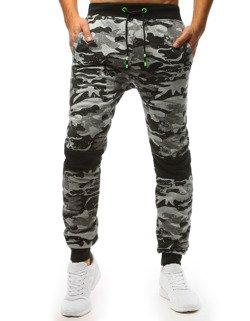 db623152 Spodnie dresowe męskie camo szare (ux1460)