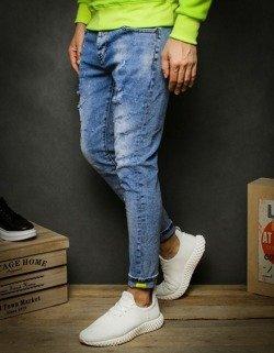 Spodnie męskie jeansowe niebieskie UX2338
