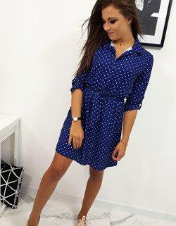 3890838fc0 Sukienka POLLY w groszki granatowa (ey0734) - sklep online Dstreet.pl