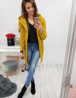 9f69284b888111 Sweter damski FEMME musztardowy (my0476) - sklep online Dstreet.pl