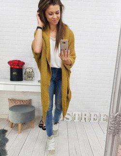 375bc641225ca9 Sweter damski LONGREACH musztardowy (my0352) - sklep online Dstreet.pl