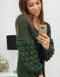 f3350a50efd07b Sweter damski BUBBLES zielony (my0340) - sklep online Dstreet.pl